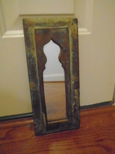 Antique Vintage  Indian Arched Mughal Art Mirror Original Arch India