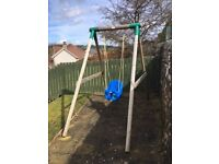 Little tikes Milano single wooden swing