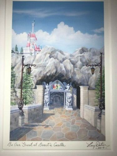 Disney Be Our Guest Beauty & the Beast Art Print Signed by Larry Dotson 2013