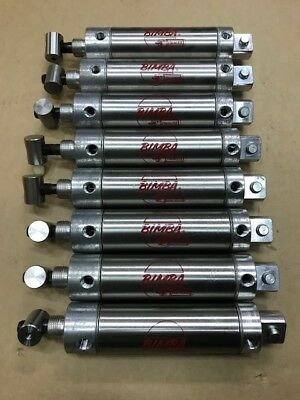 Bimba Stainless Steel Air Cylinder 173-dpg 75mm Stroke Used - Lot Of 8 Pcs