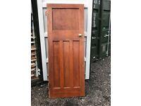 3 Solid Wood Art Deco Doors