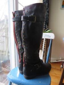 Wide Calf designer boots for sale
