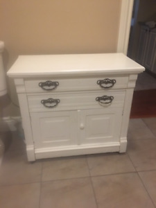 Antique Painted  Ash Commode