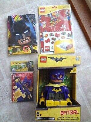 Lego Batman Movie Batgirl Clock, Batman Journal & Extra (NEW) Free Shipping
