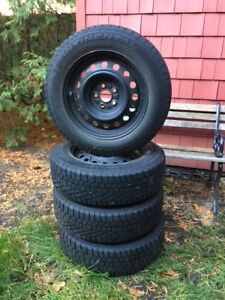 Continental 185 / 65 R 15 snow tires on rims $350