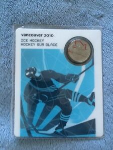 25 Cents Vancouver 2010 - Ice Hockey - Coin Sport Card