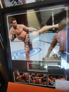 UFC Forrest Griffin signed 8x10 custom framed at Slapshot