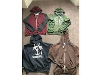 4 mens hoodies size large hoody