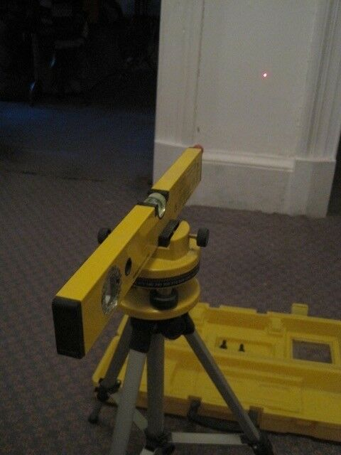 A combination 400mm spirit & laser level with tripod