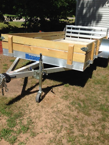 Just Like New 6x12 Mission Alloy Trailer With Ramp