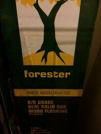 Unused and used Forester A/B Grade Real Solid Oak Wood Flooring - 100% Oak (approx 25 square metres)