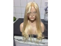 18inch Moklox full lace wig, light blonde with wispy fringe-SALE