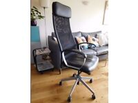IKEA Marcus swivel office chair for office with armrests