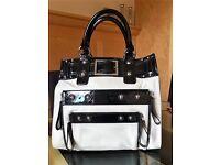 Genuine Karen Millen Black and White Handbag