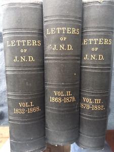 Letters of J.N.D.  Vol 1, Vol 2 & Vol 3