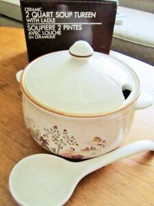 * COUNTRY LANE * 2 Quart Tureen with Ladle