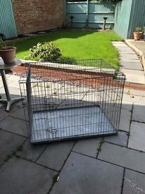 Large Metal Puppy Folding Cage