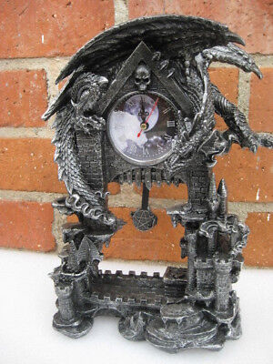 DARK TIMES Dragon Clock  Statue   H13'' x L9.85'' x W5''