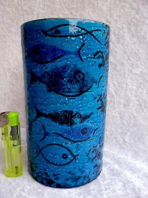 RARITÄT!!! BITOSSI Keramikvase Design: ALDO LONDI ??? Fische - Pesce 1960 er