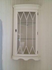 Shabby Chic corner display cabinet.
