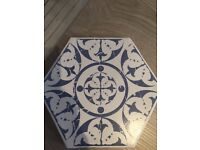 Hexagonal moroccan tiles