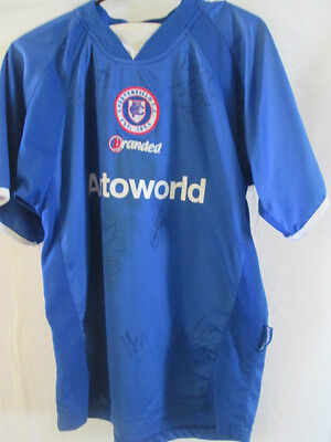 Chesterfield 2004-2005 Squad Signed Home Football Shirt COA  /9281 image