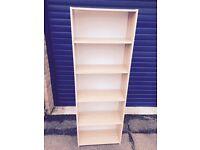 book case 5 shelves ikea beech effect