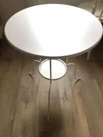 Ikea White Round Metal Table