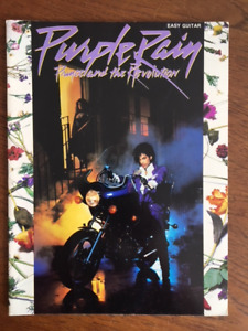 Vintage  Prince and the Revolution Purple Rain Sheet Music Song