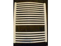 heated towel rail white brand new no box with fittings