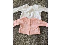 2 mothercare cardigans size 0-3 months