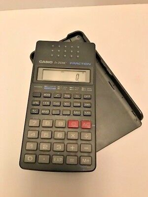 Casio Fx 250Hc Fraction Calculator With Cover  Tested  Works