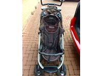 Graco Double pushchair with baby car seat