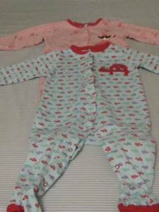 Two baby pajamas for 18 months old girl