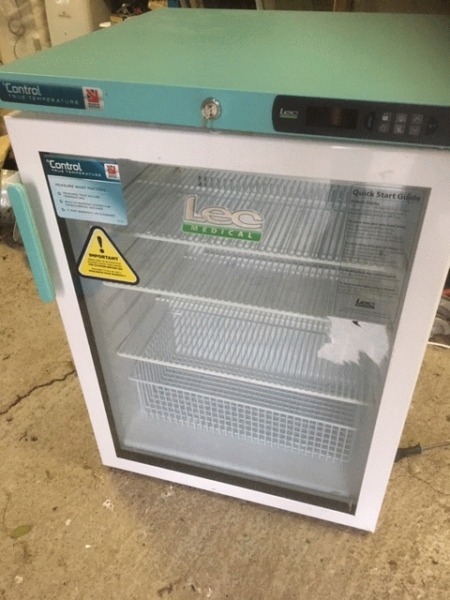 Lec Medical Pharmacy Glass Door Fridge - Used in Excellent Condition