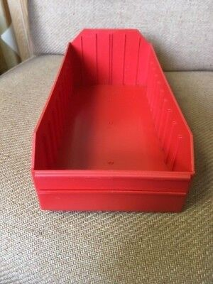 Plastic Shelf Parts Bins Lot Of 20 Bins