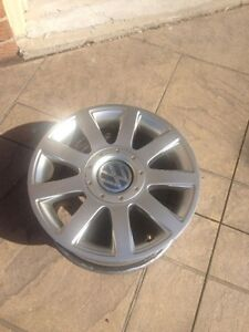 SET OF FOUR VW 15 INCH 4X100/5X112 BOLT PATTERN ALLOY RIMS