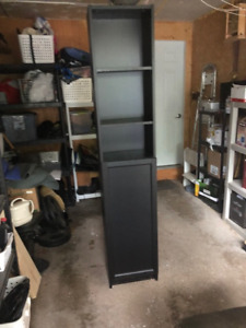 Ikea Tall Brown Book/Cabinet with door -  good condition