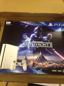 PS4 with Star Wars Battlefront II, Brand New in sealed box.