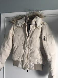 White (Ivory) Winter Bomber Jacket