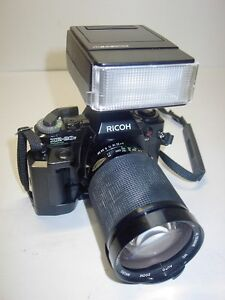 RICOH XR-20sp 35MM CAMERA F=28-200MM LENS FLASH MOTOR DRIVE