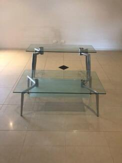 Glass Coffee & Side Table - 2 piece