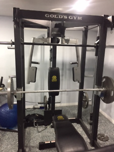 Golds Home Gym Smith Machine