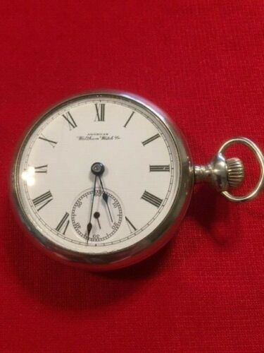 Antique 1891 Waltham Pocket Watch-Train Engraved on Rear Cover-Runs Great