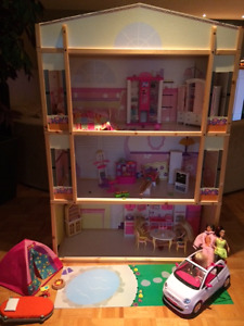 Doll House with Furniture and accessories,