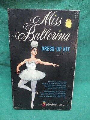 vtg Uncut Colorforms Toy Miss Ballerina Dress-up Kit