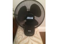 12 Inch Black Desk Fan 3 Speed Oscillating (more available)