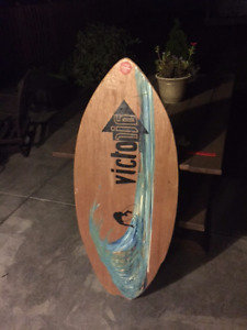 Woody skimboard by Victoria Skimboards