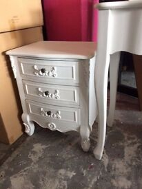 bedside tables in white or black new in box £39 or 2 for £70