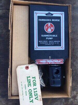 Fairbanks Morse Submersible Water Pump Control Box Parts Nos